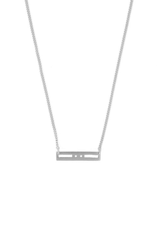 Mimi et Toi Morse necklace Silver
