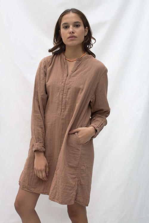 April double layer dress Brick Red