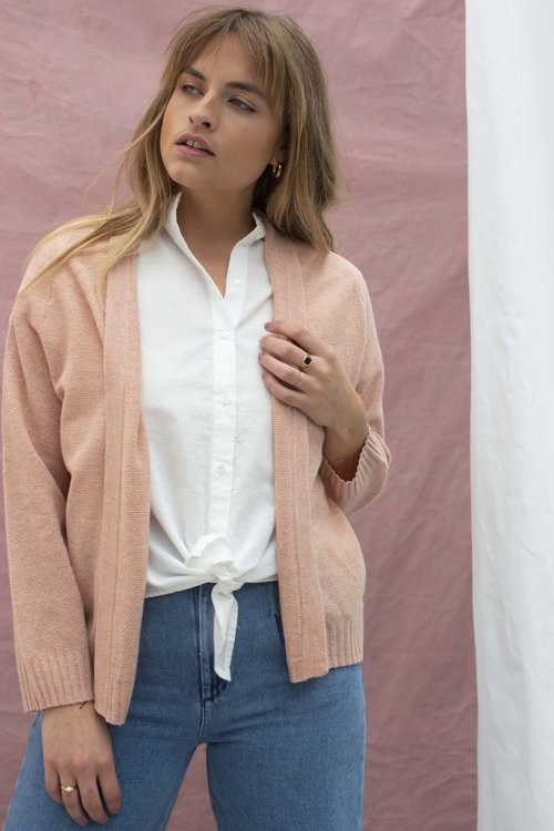 Knit-ted Lesli cardigan Pink Blush