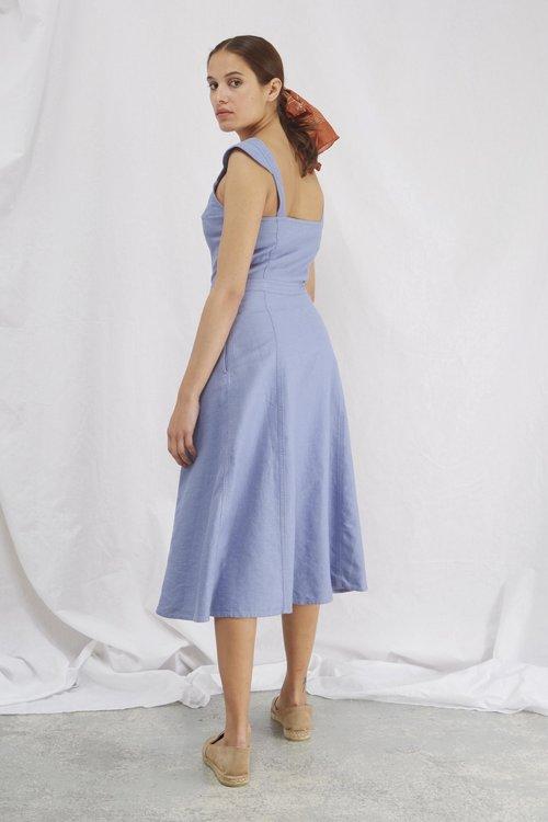 Dola Dress Denim Blue
