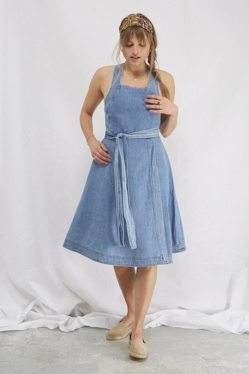 Selected Femme Jenner midi denim dress