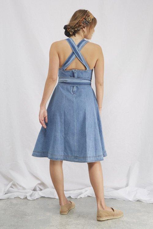 Jenner midi denim dress