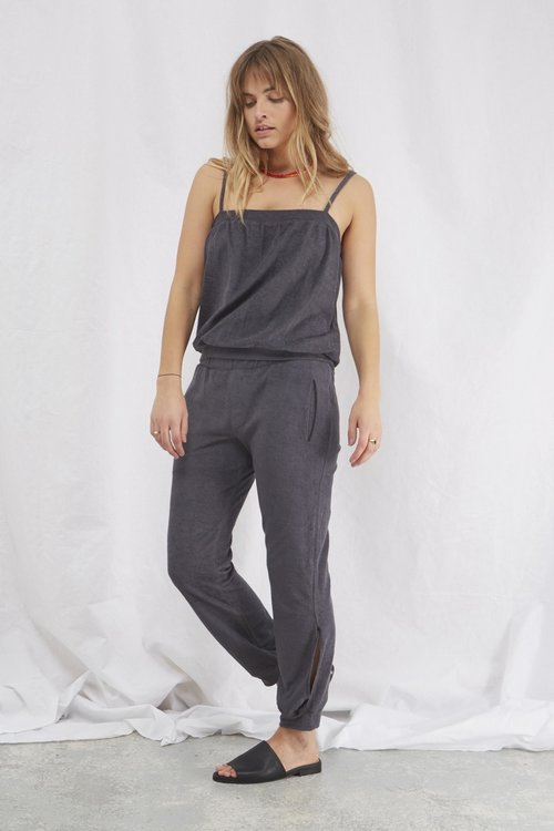 Rabens saloner Nell towelling strap top Faded Black