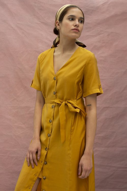 Gestuz Arienne Dress Yellow