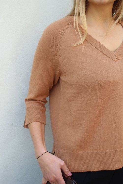 Thea 3/4 Tan Top