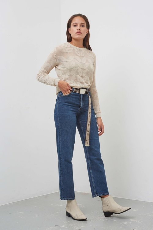 Selected Femme Kate Straight Inky Blue Jeans