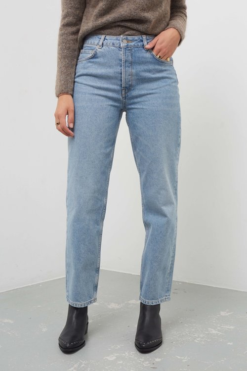 Selected Femme Kate Straight Mid Blue Jeans