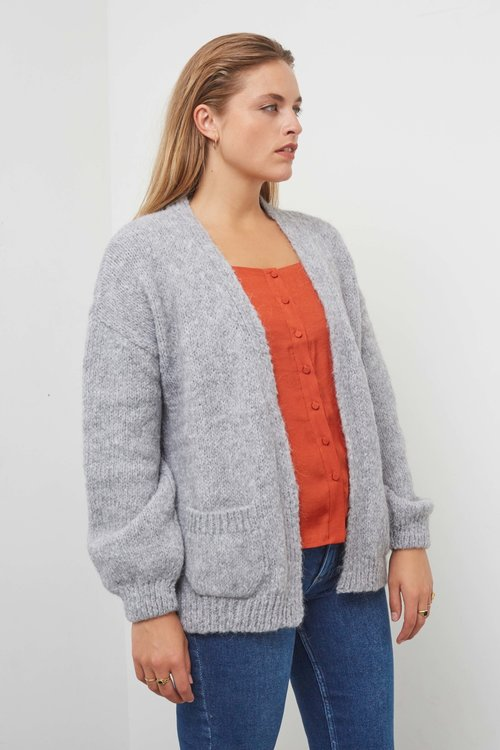 Knit-ted Bernelle Cardigan Grey