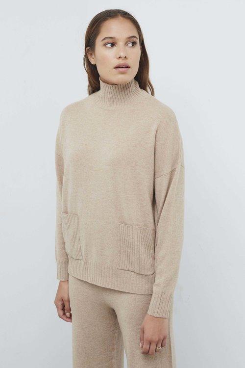 Selected Femme Feya Cashmere Pocket Knit