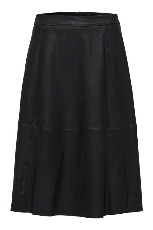 Selected Femme Marla Midi Leather Skirt