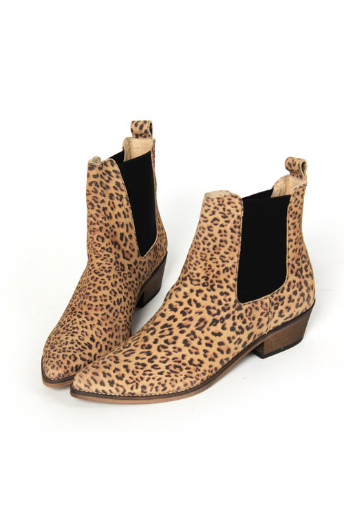 Stella Pointy Ankle Boot Leopard