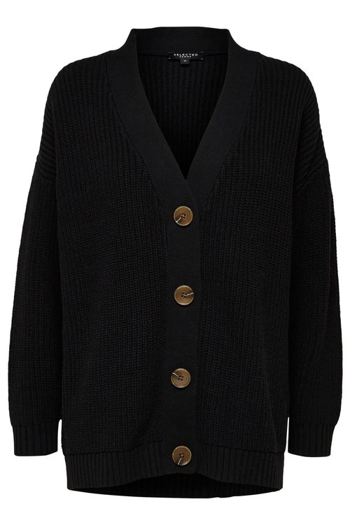 Selected Femme Bailey Knit Button Cardigan