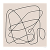 The Posterclub Abstract Lines by Rubin Studio (50x50)