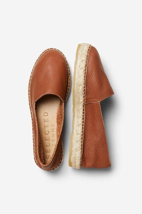 Marie Leather Espadrilles