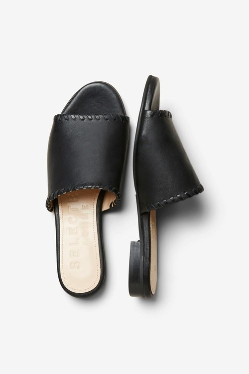 Merle Leather Mule