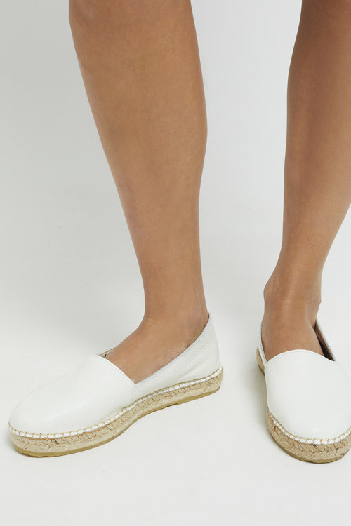 Marie Leather Espadrilles