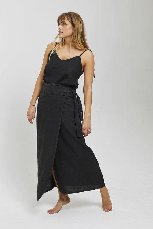 Club L'avenir Mae Draped Maxi Skirt