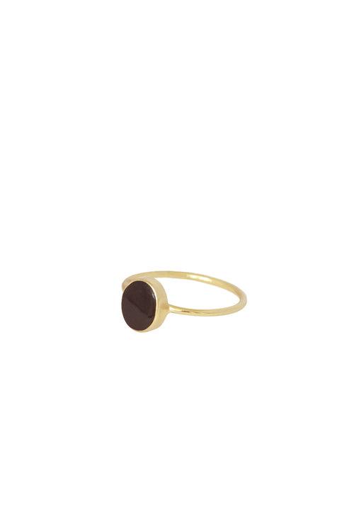 Mimi et Toi Petit Oval Bordeaux Ring