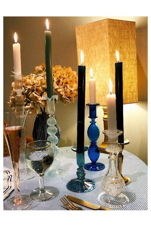 Salty Glass Candle Holder