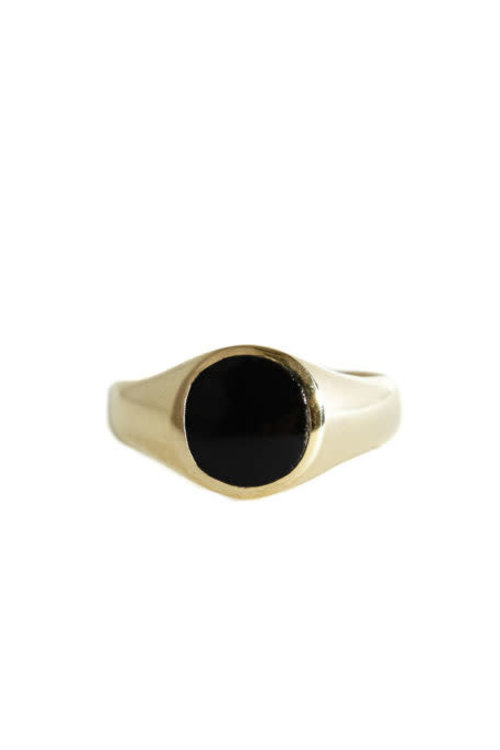 Mimi et Toi Signet Ring Black