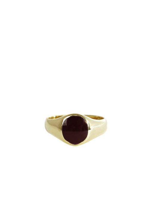 Mimi et Toi Signet Ring Burgundy