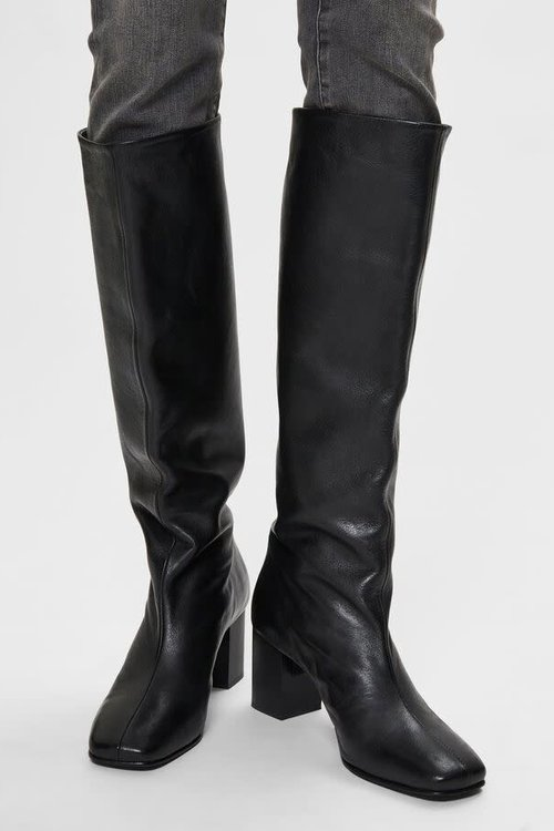 Selected Femme Zoey High Shafted Leather Boots