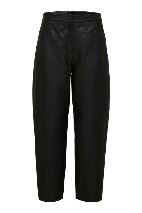 Agnes Cropped Leather Pants