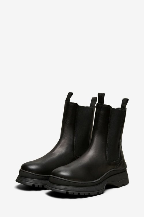 Selected Femme Lucy Leather Chelsea Boots