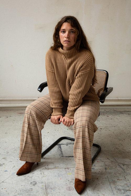 Graumann Line Pants Checked Wool