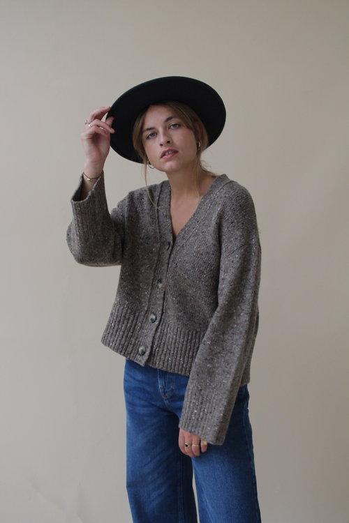 Selected Femme Forest Knit V-neck Cardigan