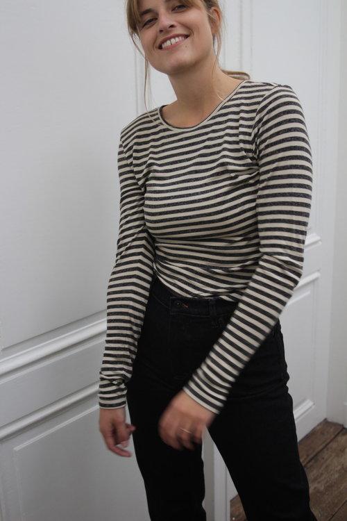 Basic Melange Stripe Shirt