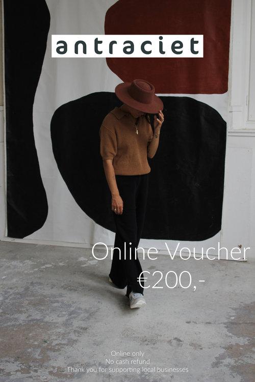 Antraciet Antraciet Online Voucher