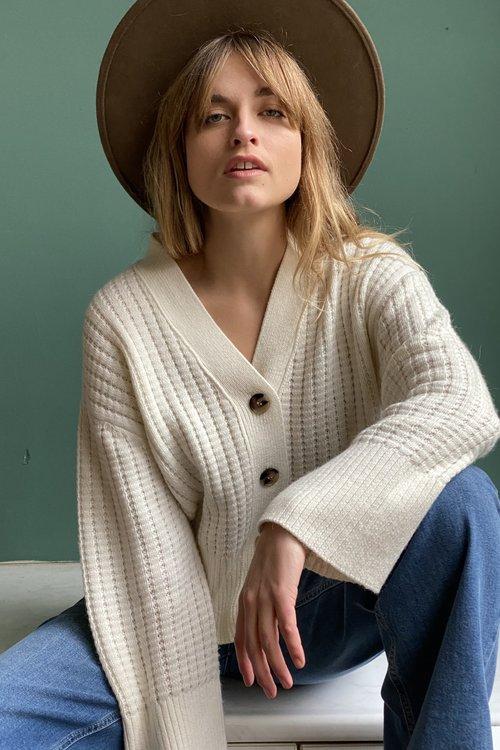 Selected Femme Frame Knit Cardigan