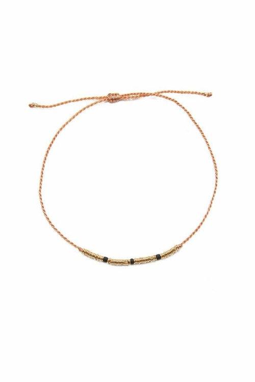 Mimi et Toi Flori Bracelet Black Gold Rings