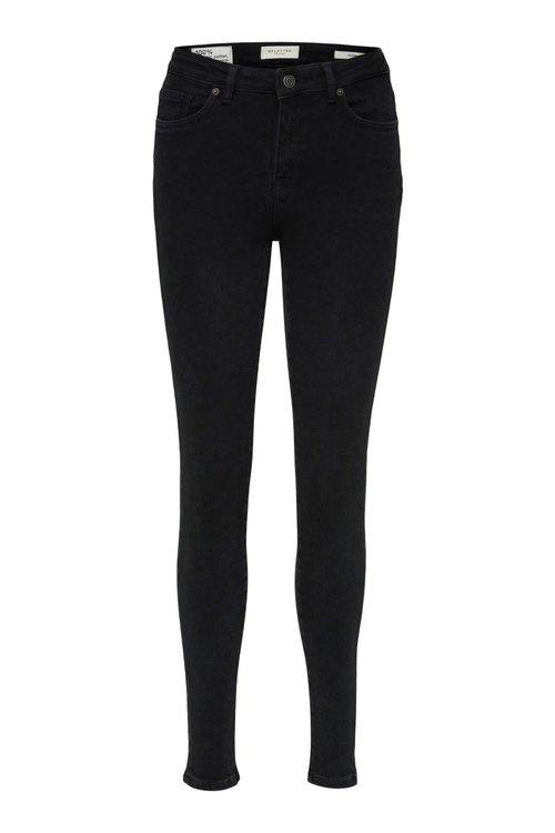 Selected Femme Sophia skinny black denim jeans