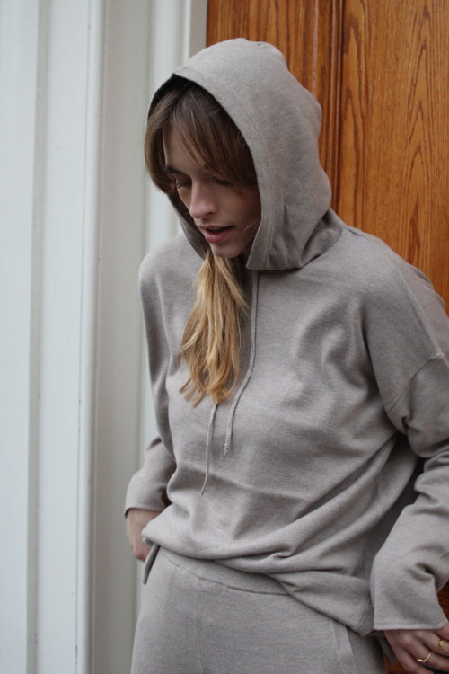 Selected Femme Inka Cashmere Knit Hoodie