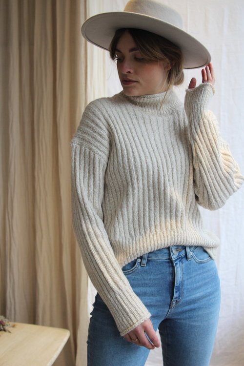 Selected Femme Helena Knit Rib Highneck