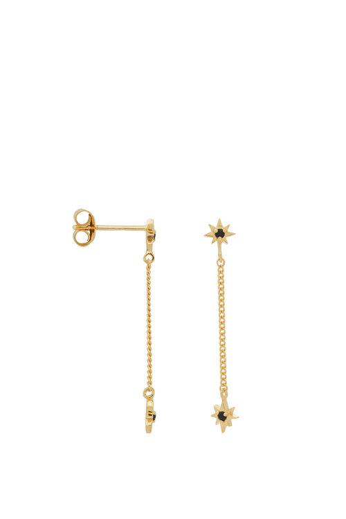 Anna+Nina Single Falling Star Chain Stud Earring