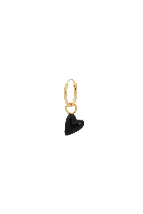 Anna+Nina Single La Muerta Heart Ring Earring
