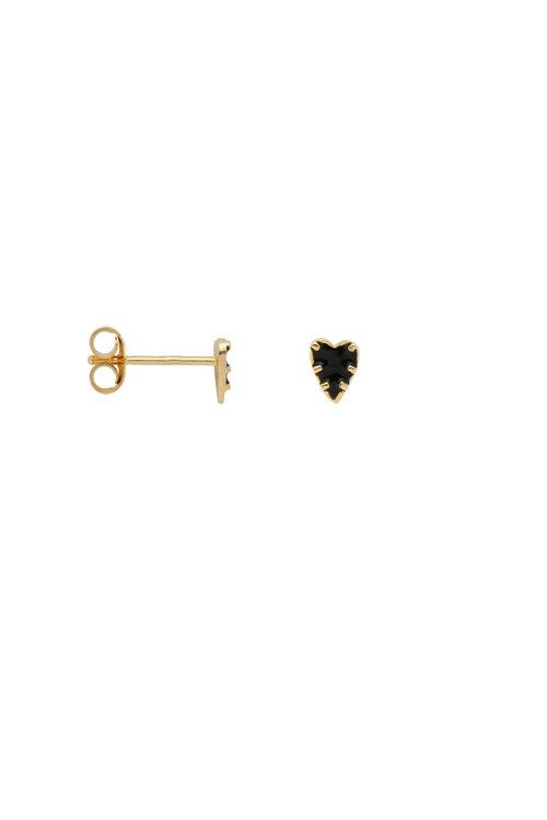 Anna+Nina Single La Muerta Heart Stud Earring
