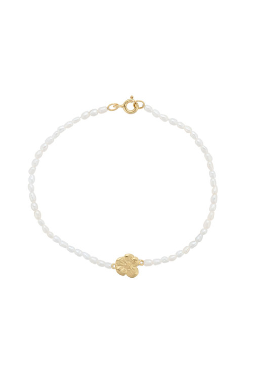 Anna+Nina Soul Flower Pearl Bracelet