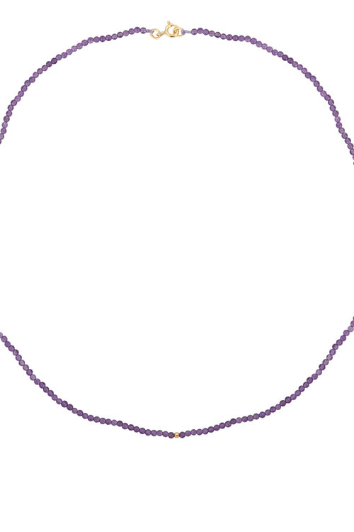 Anna+Nina Josephine Beaded Necklace Amethyst