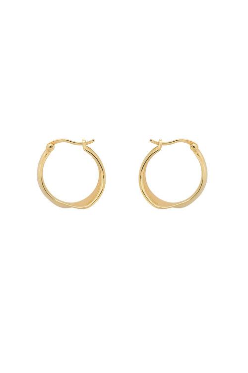 Anna+Nina Twirl Hoop Earring
