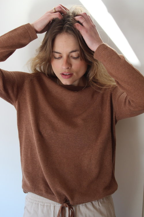 Knit-ted Poppy Pullover