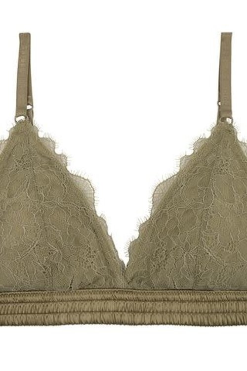 Love Stories Darling Lace Bralette Olive Green