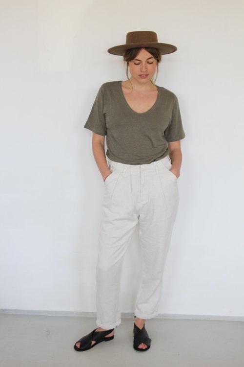 Rabens saloner Raina Canvas Pleat Pants