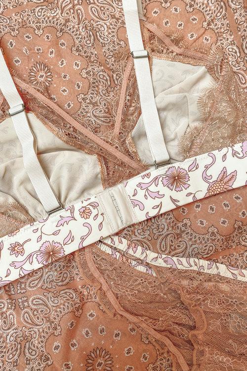 Love Lace Batik Floral Mauve Bra