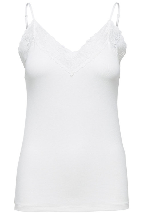 Selected Femme Mandy Rib Lace Singlet