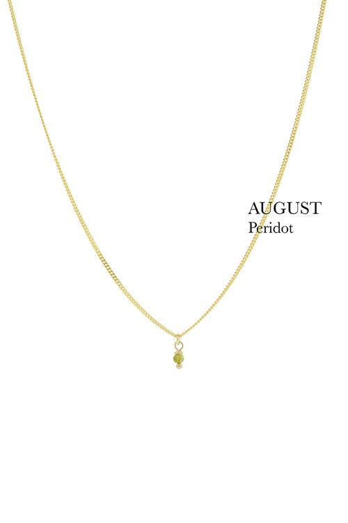 By1Oak Birthstone Peridot Necklace