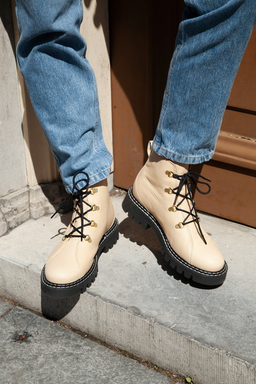 Selected Femme Vega Lace Up Boot